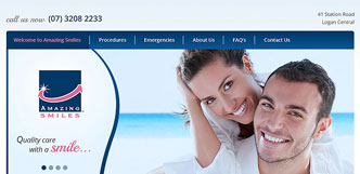 amazing smiles website design