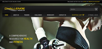 challenge fitness website design