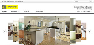 cabinetry imports website design