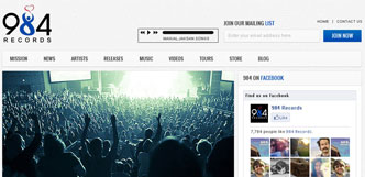 984 records website design