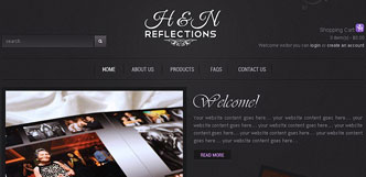 h&n refelction website design